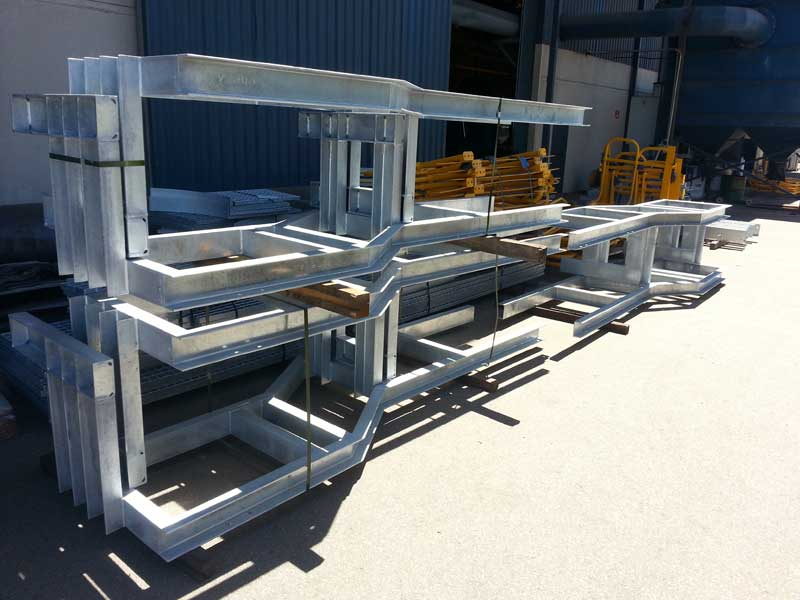 Fabrication and installation of conveyor guarding and access platforms 6